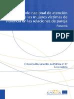 Protocolo de Atención a Mujeres Víctimas de Violencia en El Noviazgo-Panamá