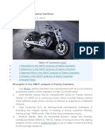 SWOT Analysis of Harley Davidson
