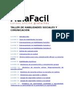 Taller de Habilidades Sociales y Cimunicación