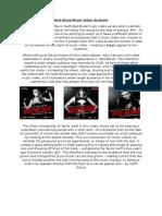 Bad Blood Music Video Analysis