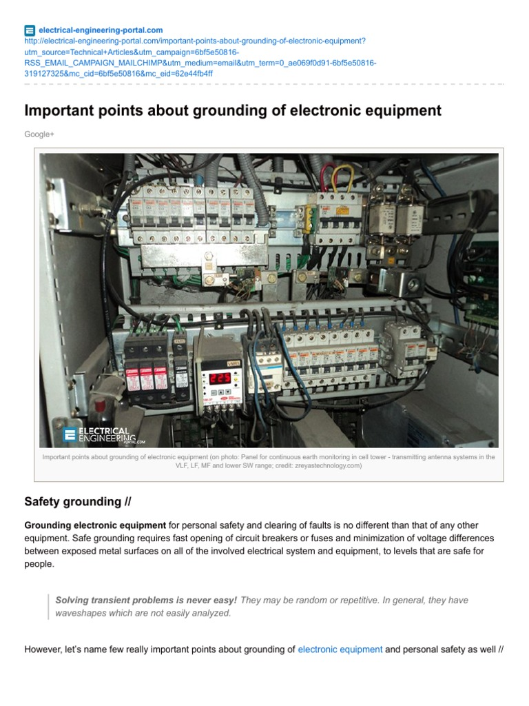 Electrical-Engineering-portal.com-Important Points About Grounding of  Electronic Equipment | Electrical Components | Physics