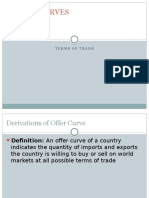 Offer Curves & Terms of Trade
