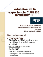 150924 Evaluación Experiencia CLUB de INTERNET II