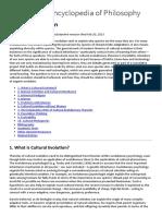 Cultural Evolution (SEP)