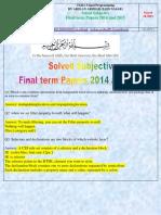 CS411 FinalTerm Subjective Solved by Arslan Arshad(Zain Nasar)