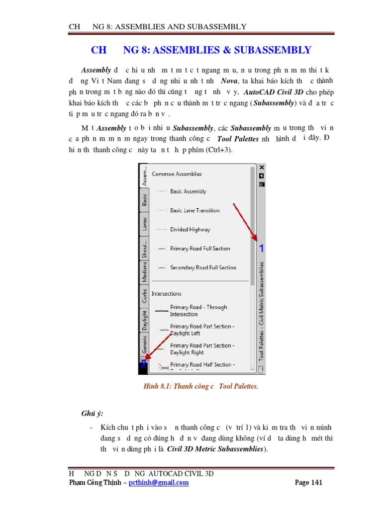 Hướng Dẫn Sử Dụng AutoCAD Civil 3D -Chapter 8 (Assembly)