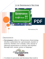 Governance in Insurance Sector