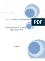 Participation in Tertiary Education 2015