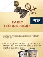 Early Technologies Powerpoint Presentation