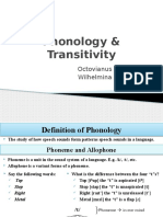Phonology and Transitivity