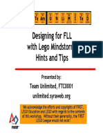 Designing for FLL With LEGO - Hints and Tips