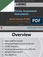 2016 08 25 - LOINC - Panels Forms Assessments