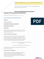 Manual de Bioseguridad Para Establecimientos de Salud Capitulo 03 Precauciones de Aislamiento