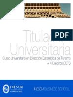 Curso Universitario en Dirección Estratégica de Turismo + 4 Créditos ECTS