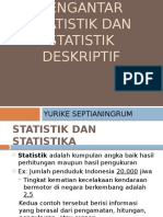 Pengantar Statistik Dan Statistik Deskriptif