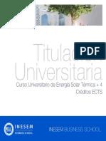 Curso Universitario de Energía Solar Térmica + 4 Créditos ECTS