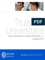 Curso Universitario en Auditoría Informática + 4 Créditos ECTS
