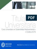 Curso Universitario en Sostenibilidad Medioambiental + 4 Créditos ECTS
