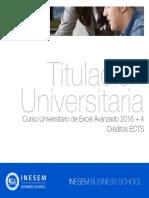 Curso Universitario de Excel Avanzado 2016 + 4 Créditos ECTS