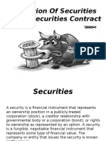 Definition of Securities Under Securities Contract Regulation Act