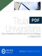 Curso Universitario de Gestión de las Tic en la Empresa + 4 Créditos ECTS