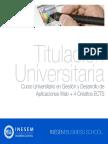 Curso Universitario en Gestión y Desarrollo de Aplicaciones Web + 4 Créditos ECTS