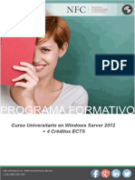 Curso Universitario en Windows Server 2012 + 4 Créditos ECTS