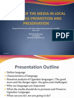 The Role of the Media in Local Language Promotion and Preservation