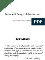 Pavement Design - Introduction