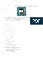 Botiquín de Primeros Auxilios(Segun Cruz Roja-Peru)