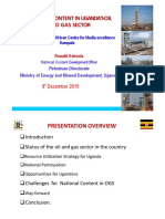National Content in Uganda's Oil and Gas Sector