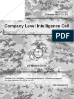 MCIP 2-10.1i (formerly MCIP 2-1.01) Company Level Intelligence Cell
