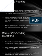 Hamlet Questions and Activities Slides