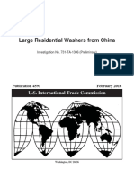 Large Residential Washers From China Public Prelim. Opinion and SR