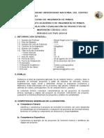 FORMULACION DE PROYECTOS MINEROS