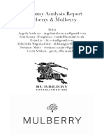 Burberry Company Analysis Report