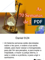 As 70 semanas profeticas