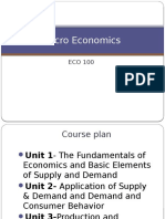 Introduction to Micro Economics