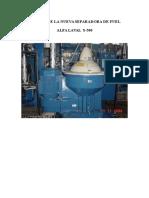 Manual Separadora de Fuel ALFA LAVAL S-500 - Alcap Nº5.doc