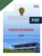 """Plan de Contingencia IESTP """"SAN IGNACIO DE LOYOLA"""" - JUNÍN -2016"""