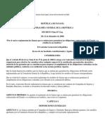 Reglamenta Fianzas de Contratacion Publica