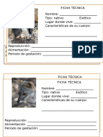Animales Costa Sierra Selva