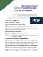 Erasmus Assessment Test of English Language Knowledge for Teachers
