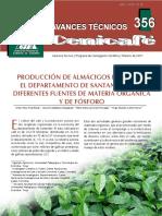 Produccion de Almacigos de Cafe Con Diferentes Fuentes de m.o y Fosforo