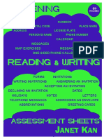 Listening, Reading & Writing Plus Assesement Sample Pages