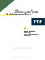 Les Contrats Audiovisuels Et Cinéma