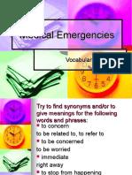 Medical Emergencies Vocabulary
