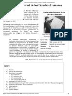 Declaración Universal de Los Derechos Humanos - Wikipedia, La Enciclopedia Libre