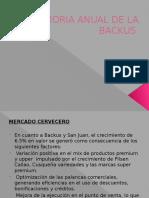Memoria Anual de La Backus PPT