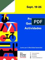 Programa General de Actividades - Semana de la Movilidad MTY 2016